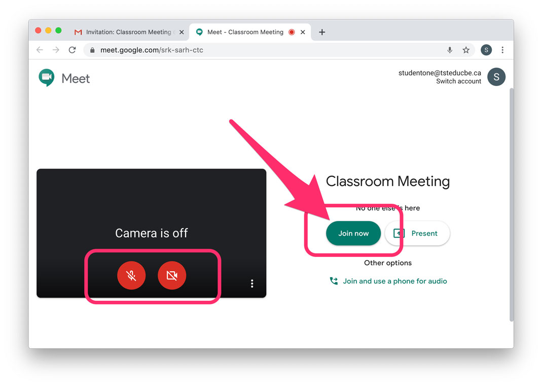Meet google classroom